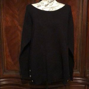 NWOT RAFAELLA SWEATER SZ L RIBBED AND BUTTON SIDES